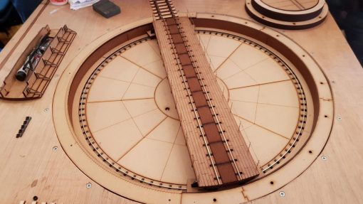 O Gauge Laser Cut Turntable