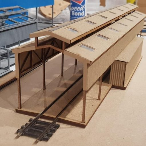 OO Gauge Laser Kit of Gresty Bridge Servicing Shed