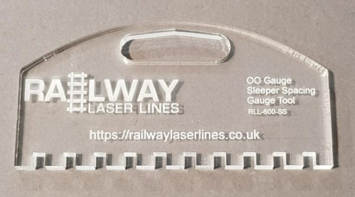 OO Gauge Sleeper Spacer Tool