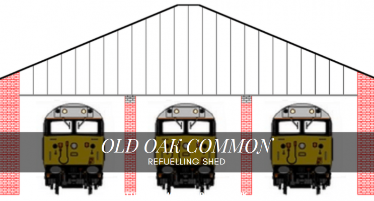 OO Gauge Old Oak Common Laser Cut Kit