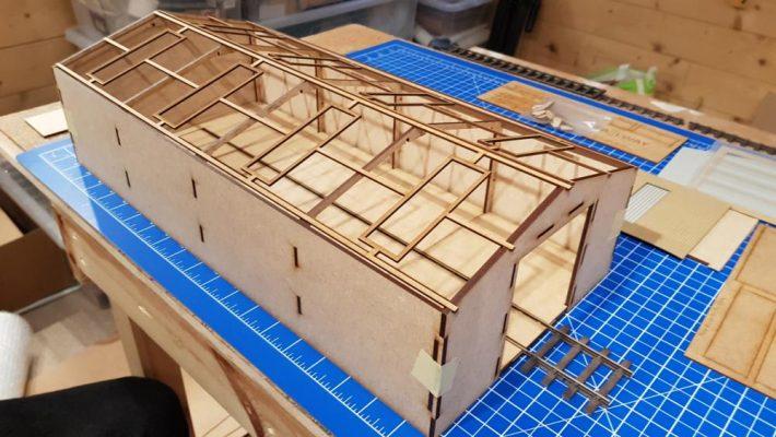 O Gauge Laser Cut Kit - Wagon Repair Shed - Railway Laser Lines