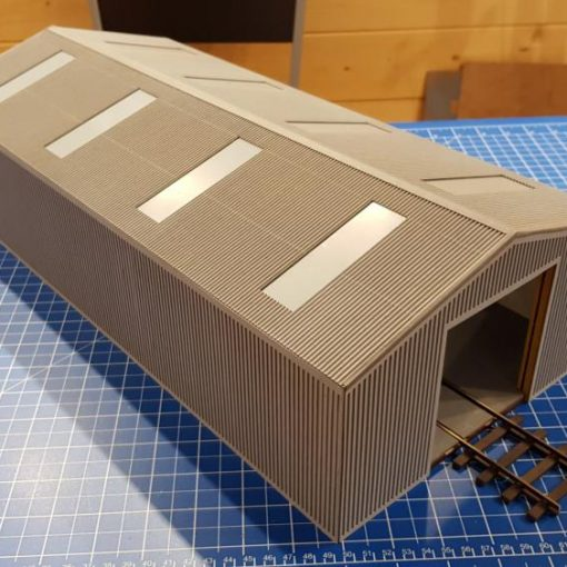 Laser Cut O Gauge Wagon Repair Shed Kit - Railway Laser Lines