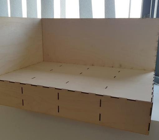 RLLDB002 End Panel Diorama Baseboard - Railway Laser Lines