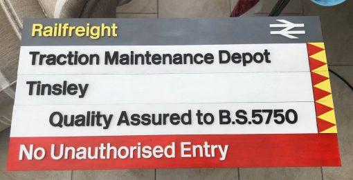 Laser Cut Depot Signs - Railfreight Distribution