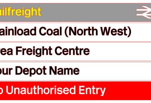 Railfreight Coal Diesel Depot Sign With Your Name - Railway Laser Lines