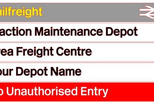 Railfreight Distribution Depot Sign