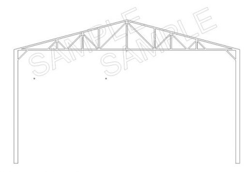 Roof Truss 170mm Pack of 5 - Railway Laser Lines