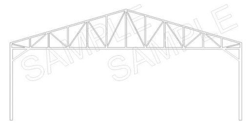 Roof Truss Pack of 5 - Railway Laser Lines