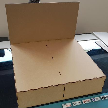Mini 400m Diorama Display Baseboard - Railway Laser Lines