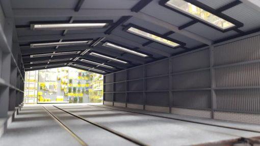 O Gauge 2 Road Servicing Shed - Railway Laser Lines