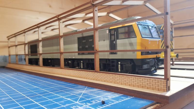 O gauge laser cut 2 road servicing shed - Railway Laser Lines