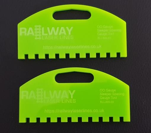 Railway Laser Lines Twin Sleeper Spacer Tool OO Gauge