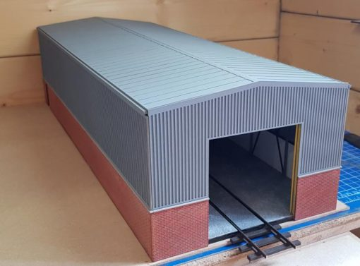 O gauge laser cut single road diesel depot dead-end version - railwaylaserlines.co.uk