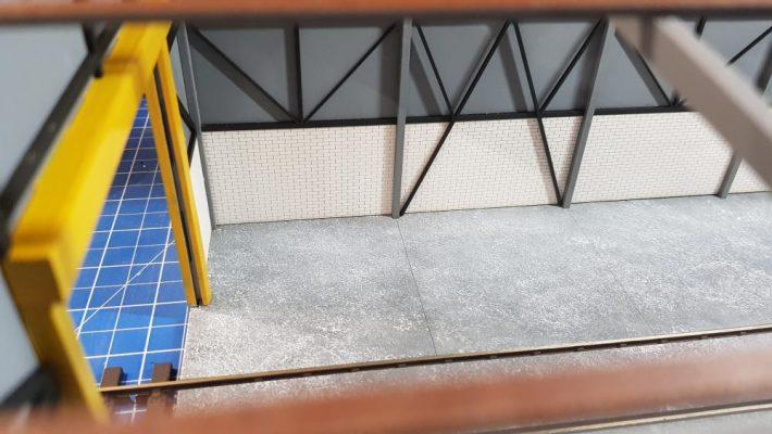 O gauge single road laser cut diesel depot - railwaylaserlines.co.uk