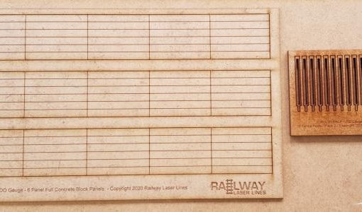 OO Gauge-Concrete-Panel-Fencing-and-Posts-Railwaylaserlines.co.uk