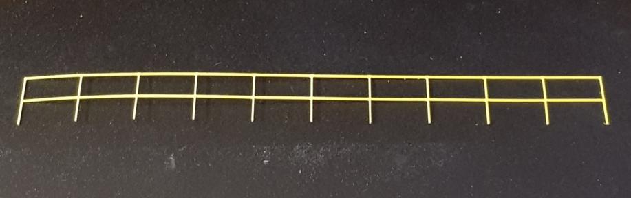 o gauge depot railings - railway laser lines