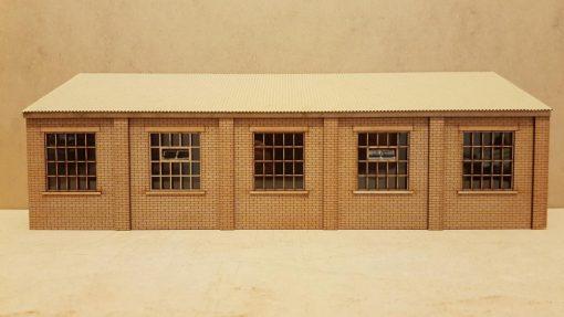 O Gauge Backscene Warehouse Laser Cut Kit - Railway Laser Lines