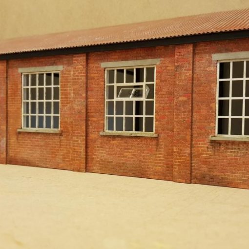 O Gauge Backscene Warehouse Laser Cut Kit - Railway Laser Lines