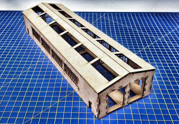 N Gauge Laser Cut 2 Road - 4 Loco - Diesel Maintenance Depot - Railway Laser Lines