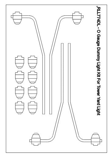 O Guage tower Yard Light Dummy Light Kit - RLL774DL