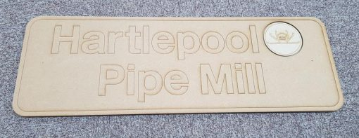 Nameplate - Hartlepool Pipe Mill - 37682 - Railway Laser Lines