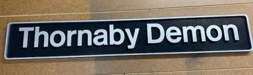 Thornaby Demon Nameplate - Railway Laser Lines