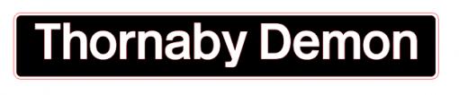 Thornaby Demon Laser Cut Nameplate - Railway Laser Lines