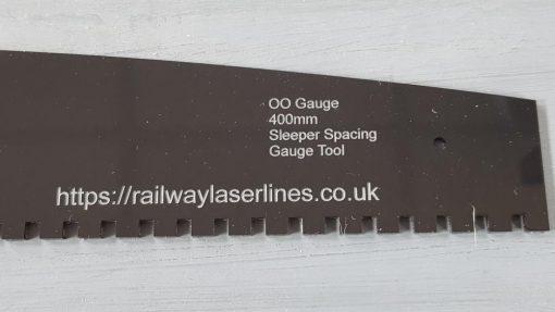 OO Gauge 400m Sleeper Spacer Tool - Railway Laser Lines