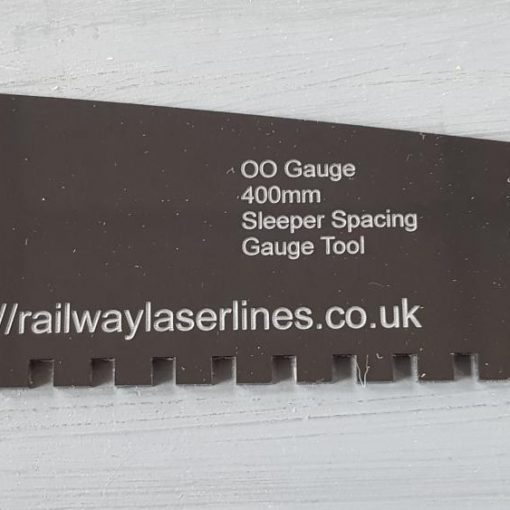 OO Gauge 400m Sleeper Spacer Tool - Railway Laser Lines