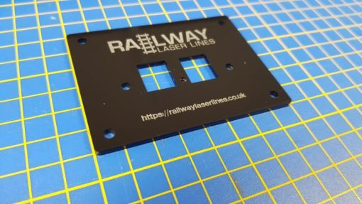 Replacement Digitrax UP5 front panel with your own layout name - Railway Laser Lines